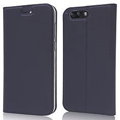 Coque Portefeuille Livre Cuir Etui Clapet L02 pour Asus Zenfone 4 ZE554KL Bleu