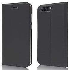 Coque Portefeuille Livre Cuir Etui Clapet L02 pour Asus Zenfone 4 ZE554KL Noir