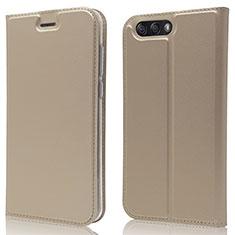 Coque Portefeuille Livre Cuir Etui Clapet L02 pour Asus Zenfone 4 ZE554KL Or