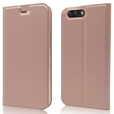 Coque Portefeuille Livre Cuir Etui Clapet L02 pour Asus Zenfone 4 ZE554KL Or Rose