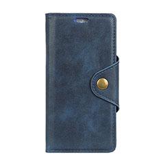 Coque Portefeuille Livre Cuir Etui Clapet L02 pour Asus Zenfone 5 Lite ZC600KL Bleu