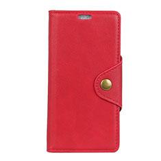 Coque Portefeuille Livre Cuir Etui Clapet L02 pour Asus Zenfone 5 Lite ZC600KL Rouge