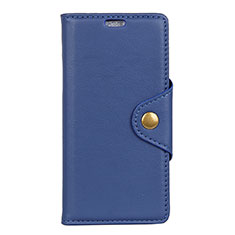 Coque Portefeuille Livre Cuir Etui Clapet L02 pour Asus ZenFone Live L1 ZA551KL Bleu