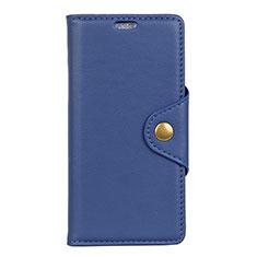 Coque Portefeuille Livre Cuir Etui Clapet L02 pour Asus Zenfone Max ZB555KL Bleu