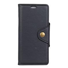 Coque Portefeuille Livre Cuir Etui Clapet L02 pour Asus Zenfone Max ZB555KL Noir