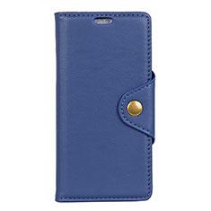 Coque Portefeuille Livre Cuir Etui Clapet L02 pour Asus Zenfone Max ZB663KL Bleu