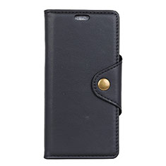 Coque Portefeuille Livre Cuir Etui Clapet L02 pour Asus Zenfone Max ZB663KL Noir