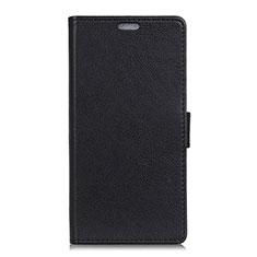 Coque Portefeuille Livre Cuir Etui Clapet L02 pour Asus ZenFone V500KL Noir