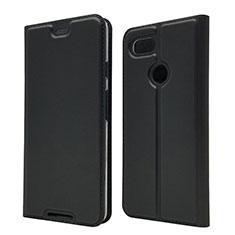 Coque Portefeuille Livre Cuir Etui Clapet L02 pour Google Pixel 3 Noir