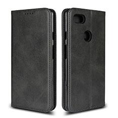 Coque Portefeuille Livre Cuir Etui Clapet L02 pour Google Pixel 3 XL Noir