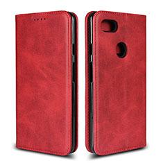 Coque Portefeuille Livre Cuir Etui Clapet L02 pour Google Pixel 3 XL Rouge