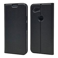 Coque Portefeuille Livre Cuir Etui Clapet L02 pour Google Pixel 3a XL Noir
