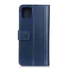 Coque Portefeuille Livre Cuir Etui Clapet L02 pour Google Pixel 4 Bleu