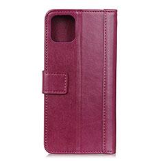 Coque Portefeuille Livre Cuir Etui Clapet L02 pour Google Pixel 4 Rouge