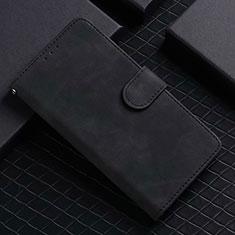 Coque Portefeuille Livre Cuir Etui Clapet L02 pour Google Pixel 5 Noir