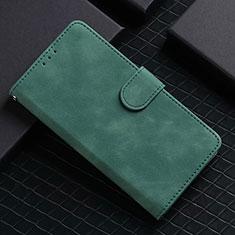 Coque Portefeuille Livre Cuir Etui Clapet L02 pour Google Pixel 5 Vert