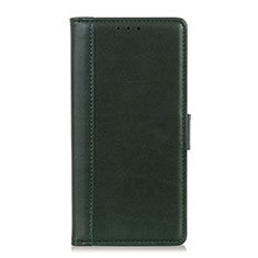 Coque Portefeuille Livre Cuir Etui Clapet L02 pour HTC Desire 19 Plus Vert