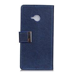 Coque Portefeuille Livre Cuir Etui Clapet L02 pour HTC U11 Life Bleu