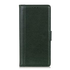 Coque Portefeuille Livre Cuir Etui Clapet L02 pour HTC U19E Vert