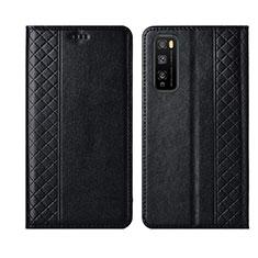 Coque Portefeuille Livre Cuir Etui Clapet L02 pour Huawei Enjoy 20 Pro 5G Noir