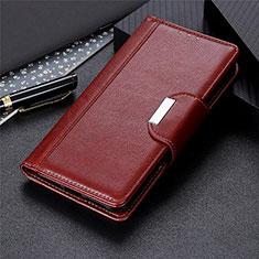 Coque Portefeuille Livre Cuir Etui Clapet L02 pour Huawei Honor 30S Marron