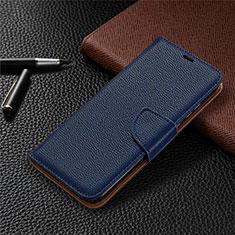 Coque Portefeuille Livre Cuir Etui Clapet L02 pour Huawei Honor 9A Bleu