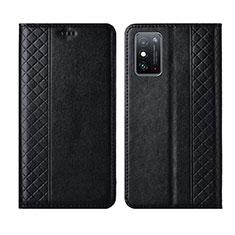 Coque Portefeuille Livre Cuir Etui Clapet L02 pour Huawei Honor X10 Max 5G Noir