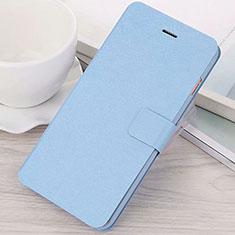 Coque Portefeuille Livre Cuir Etui Clapet L02 pour Huawei Mate 20 Lite Bleu