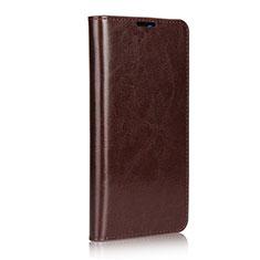 Coque Portefeuille Livre Cuir Etui Clapet L02 pour Huawei Mate 20 Marron