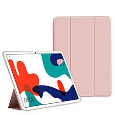 Coque Portefeuille Livre Cuir Etui Clapet L02 pour Huawei MatePad 10.4 Rose