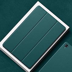 Coque Portefeuille Livre Cuir Etui Clapet L02 pour Huawei MatePad 10.8 Vert Nuit