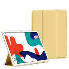 Coque Portefeuille Livre Cuir Etui Clapet L02 pour Huawei MatePad 5G 10.4 Jaune