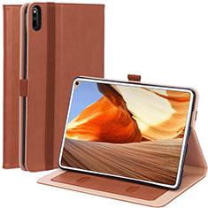 Coque Portefeuille Livre Cuir Etui Clapet L02 pour Huawei MatePad Pro Marron