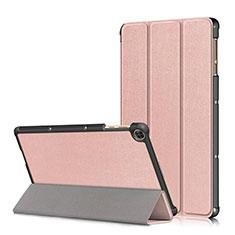 Coque Portefeuille Livre Cuir Etui Clapet L02 pour Huawei MatePad T 10s 10.1 Or Rose