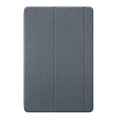 Coque Portefeuille Livre Cuir Etui Clapet L02 pour Huawei MediaPad M6 10.8 Gris