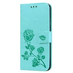 Coque Portefeuille Livre Cuir Etui Clapet L02 pour Huawei P20 Lite Vert