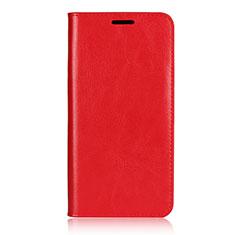 Coque Portefeuille Livre Cuir Etui Clapet L02 pour Huawei P20 Pro Rouge