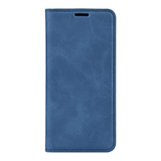 Coque Portefeuille Livre Cuir Etui Clapet L02 pour Huawei P40 Bleu
