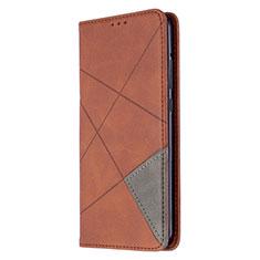 Coque Portefeuille Livre Cuir Etui Clapet L02 pour Huawei P40 Lite E Marron