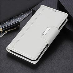 Coque Portefeuille Livre Cuir Etui Clapet L02 pour Huawei Y6p Blanc