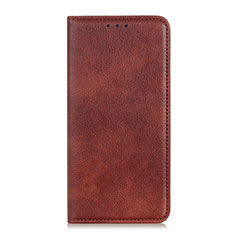 Coque Portefeuille Livre Cuir Etui Clapet L02 pour Huawei Y7a Marron