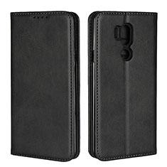Coque Portefeuille Livre Cuir Etui Clapet L02 pour LG G7 Noir