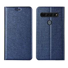 Coque Portefeuille Livre Cuir Etui Clapet L02 pour LG K41S Bleu
