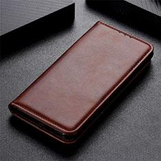 Coque Portefeuille Livre Cuir Etui Clapet L02 pour LG K51 Marron