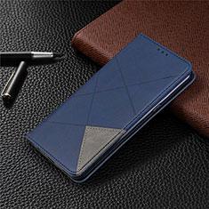 Coque Portefeuille Livre Cuir Etui Clapet L02 pour LG K61 Bleu