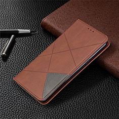 Coque Portefeuille Livre Cuir Etui Clapet L02 pour LG K61 Marron