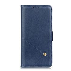 Coque Portefeuille Livre Cuir Etui Clapet L02 pour LG K92 5G Bleu