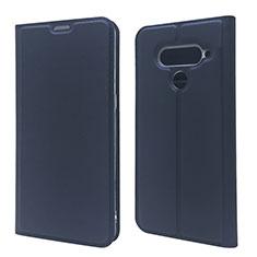 Coque Portefeuille Livre Cuir Etui Clapet L02 pour LG V50 ThinQ 5G Bleu