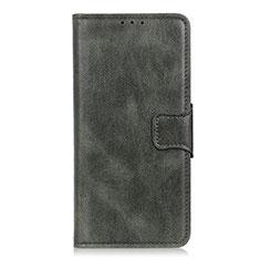 Coque Portefeuille Livre Cuir Etui Clapet L02 pour LG Velvet 5G Vert Nuit