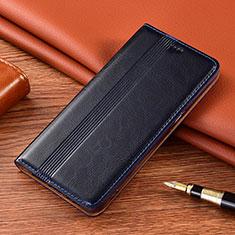 Coque Portefeuille Livre Cuir Etui Clapet L02 pour Motorola Moto E7 Plus Bleu Royal